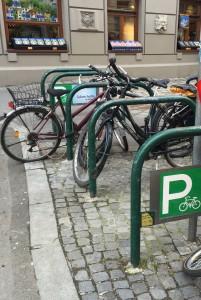 Turvallinen pyöräteline Sheffield rack Wien